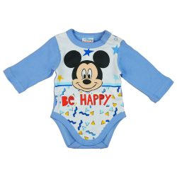 "Disney Mickey ""Be happy"" hosszú ujjú baba body"