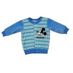 Disney Mickey hímzett baba kardigán, kocsikabát