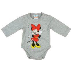 Disney Minnie szivecskés hosszú ujjú baba body