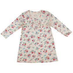 Virágos hosszú ujjú lányka ruha