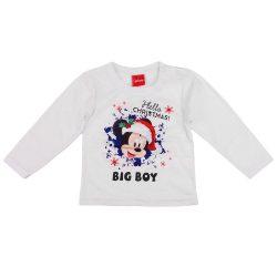 Disney Mickey hosszú ujjú karácsonyi fiú póló