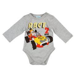 Disney Mickey autós hosszú ujjú baba body