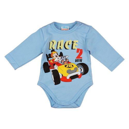 Disney Mickey autós hosszú ujjú baba body kék