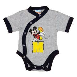 """Disney Mickey """"M"""" rövid ujjú baba body"""