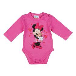 Disney Minnie szívecskés nyuszis hosszú ujjú baba body