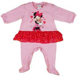 Disney Minnie szívecskés, nyuszis szoknyás rugdalózó