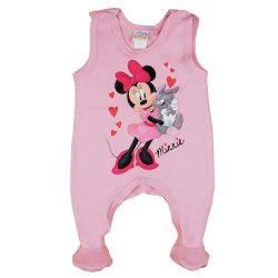 Disney Minnie szívecskés, nyuszis ujjatlan baba rugdalózó
