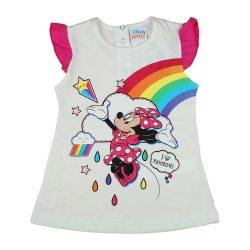 Disney Minnie szivárványos rövid ujjú lányka póló