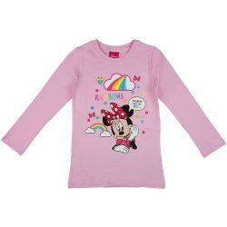 Disney Minnie szivárványos hosszú ujjú lányka póló