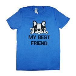 """My best friend"" francia bulldogos férfi rövid ujjú póló"
