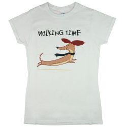 """""""Walking time"""" tacskós rövid ujjú női póló"""