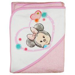 """Disney Minnie """"rajzos"""" kapucnis frottír törölköző 100x100cm"""