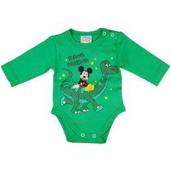 Disney Mickey dínós hosszú ujjú baba body