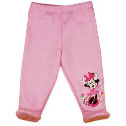 Disney Minnie virágos, belül bolyhos baba nadrág
