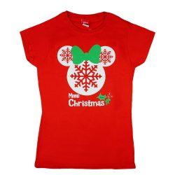 Disney Minnie karácsonyi női póló