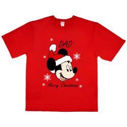 Disney Mickey karácsonyi férfi póló apáknak