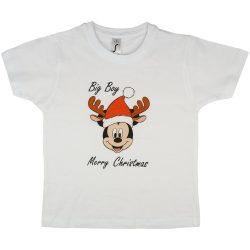 Disney Mickey karácsonyi feliratos fiú póló