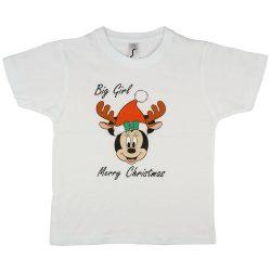 Disney Minnie karácsonyi feliratos lányka póló