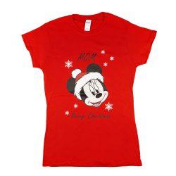 Disney Minnie karácsonyi feliratos póló anyukáknak