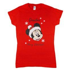 Disney Minnie karácsonyi feliratos póló nagymamáknak