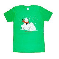 """Karácsonyi """"jegesmedve család"""" női póló"""