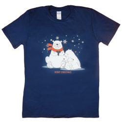 """Karácsonyi """"jegesmedve család"""" férfi póló"""