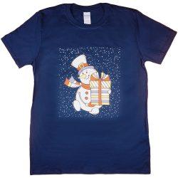 Karácsonyi hóemberes férfi póló