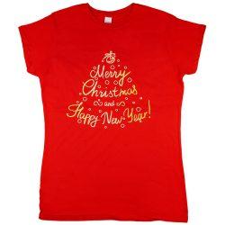 Karácsonyi feliratos női póló