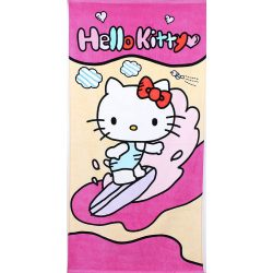 Hello Kitty mintás pamut strandtörölköző