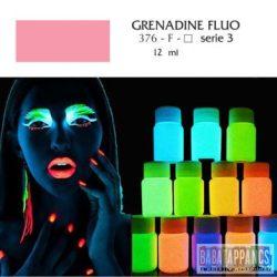 """UV fényben világító fluoreszkáló akril festék - """"Grenadine"""" - 12ml, OEM"""