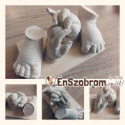 BabaTappancs 1 szobros kéz és lábszobor készítő összeállítás - GYERMEK méret - kézszobor, lenyomat, dombornyomat