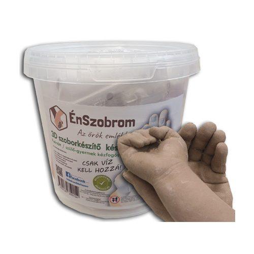 BabaTappancs Szülő és gyermek kézfogós kézszobor készítő összeállítás - lábszobor, lenyomat, dombornyomat