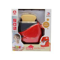 Kenyérpirító arcos, rózsaszín, elemes, hangot ad és világít. A doboz mérete: 15x17 cm