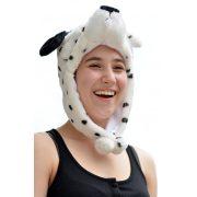 Plüss állatos sapka, bélelt, 8-féle: panda, dalmata, husky, leopárd, jegesmedve, majom, nyuszi, pingvin