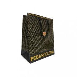 Barcelona ajándékszatyor írásos - M, Fekete/Sárga