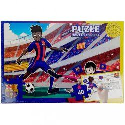 Barcelona puzzle színezős 40 db-os