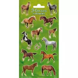 Horses Stickers Lovas matrica 102x200mm Funny Products