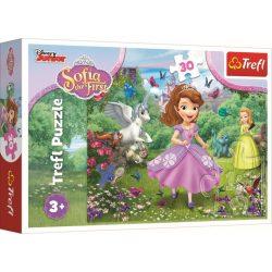 Szófia Hercegnő a kertben puzzle 30 db-os Trefl