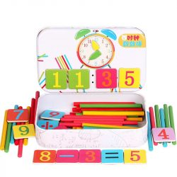 Mágneses számoló és óra gyakorló játék