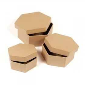 Formázott, 3 darabos díszíthető ajándék-papírdobozok