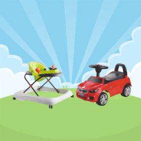 Bébitaxik, bébikompok és járássegítők
