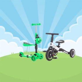Biciklik, triciklik és rollerek