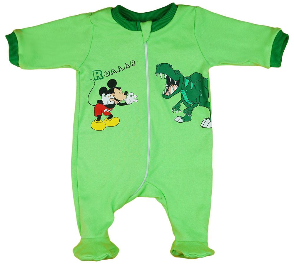 Disney Mickey dínós hosszú ujjú rugdalózó