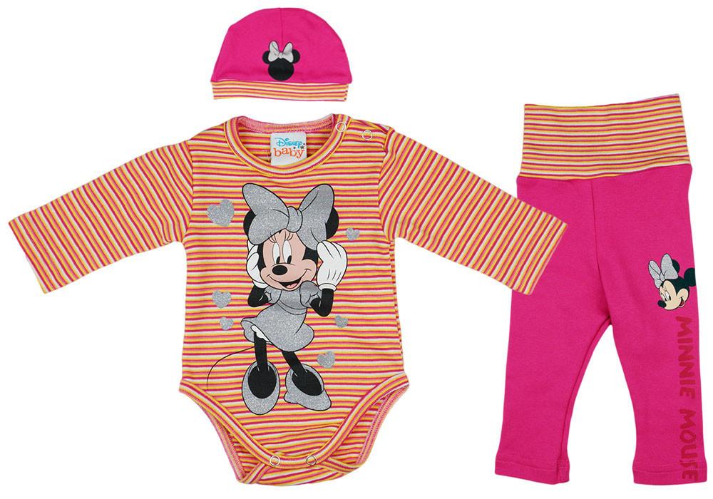 Disney Minnie szívecskés 3 részes baba szett