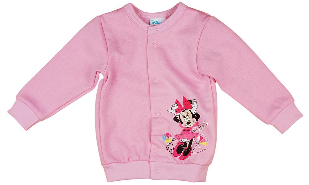 Disney Minnie virágos, belül bolyhos baba kardigán