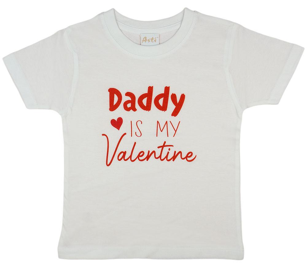 """""""Daddy is my Valentine"""" feliratos valentin napi lányka póló"""